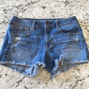 American Eagle shortie denim shorts size 6